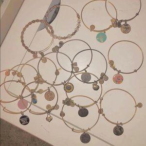 Alex and Ani 16 variety bracelets